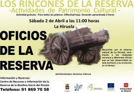Cartel de la actividad en la Sierra del Rincón.