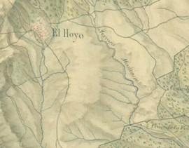 Plano de 1809 Primer registro topográfico del Camino de Hoyo al Pardo, entrando por la Casa de Ito.
