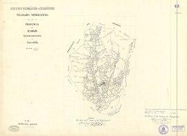 Mapa decimonónico de Cercedilla.