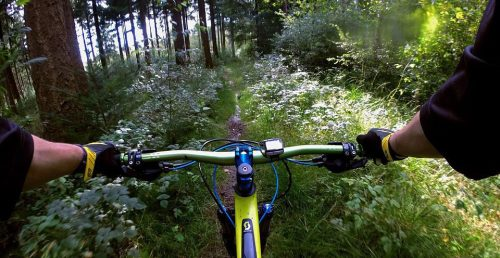Usuario de mountain bike.