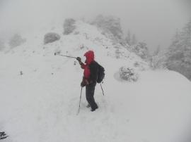 El autor durante una salida montañera. Foto: Alfredo del Campo.