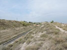 Línea ferroviaria en la reserva. Foto: José Luis Álvarez Serrano.