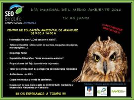Cartel de la actividad organizada por el grupo local de SEO/Birdlife.