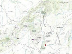 Localización de los tres punto conflictivos madrileños en el Atlas de Justicia Ambiental.