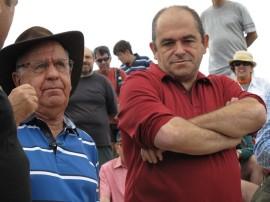 Antonio Sáenz de Miera a la izquierda junto al director del Parque Nacional, Pablo Sanjuanbenito. Foto: Carlos Fernández.