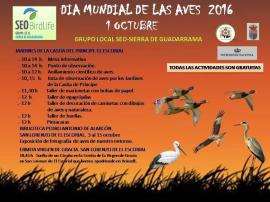 Cartel de la jornada ornitológica.