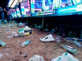 Residuos abandonados.