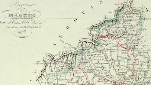 La Sierra de Guadarrama en en plano de 1853.