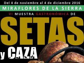 Cartel anunciador de la Muestra Gastronómica de Miraflores.