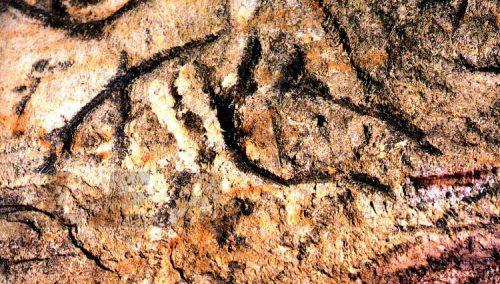 Inscripción hallada en la cueva de La Griega.