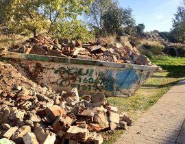 Escombros retirados del monte 'Los Ángeles'. (Ayto. Torrelodones).