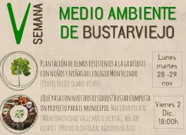 Cartel anunciador de la actividad medioambiental.