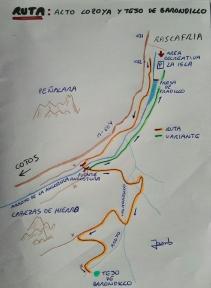 Mapa descriptivo de la ruta.