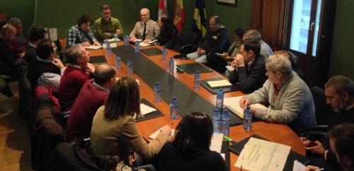 Momento de la reunión del Grupo de trabajo. Foto: Ayto. Real Sitio de San Ildefonso.