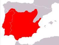 Distribución de la culebrilla ciega en la península Ibérica.