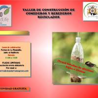 Taller de comederos y bebederos para aves