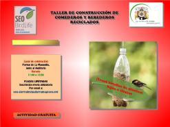 Cartel de la actividad propuesta por SEO/Birdlife Sierra de Guadarrama en colaboración con el Ayto. El Escorial.
