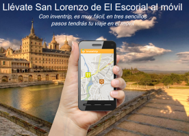Zona de acceso en la plataforma al municipio de San Lorenzo de El Escorial.