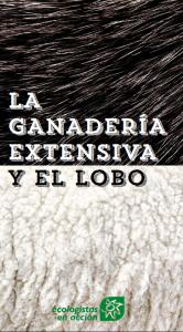 Tríptico 'La ganadería extensiva y el lobo'.