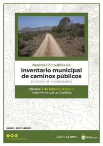 Inventario municipal de caminos públicos.