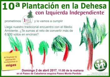 Cartel de la inicitiva de Izquierda Independiente.