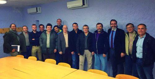 Alcaldes de los municipios impulsores de la nueva asociación.
