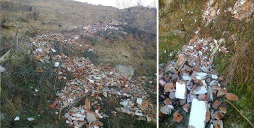 Vertido de escombros en arroyo del Plantio, en Las Rozas. Foto: Vía Natura.