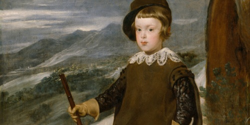 Detalle de 'El Príncipe Baltasar Carlos, cazador', de Velázquez, con la sierra de Guadarrama como fondo.