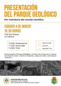 Presentación del Parque Geológico.