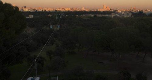 Vista de la ciudad de Madrid desde El Teleférico.
