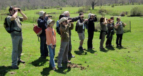 Participantes en una edición de la excursión didáctica. Foto: CENEAM.