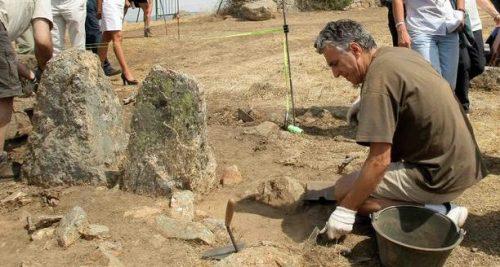 Excavaciones en el yacimiento visigodo de Navalvillar.