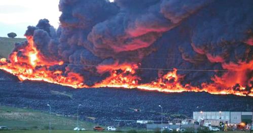 Incendio del vertedero de neumáticos de Seseña y Valdemoro.