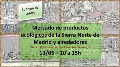Cartel anunciador del Mercado de productos ecológicos.
