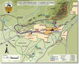 Plano municipal con las rutas establecidas.