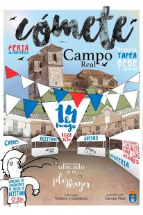 Cartel de la feria en Campo Real.