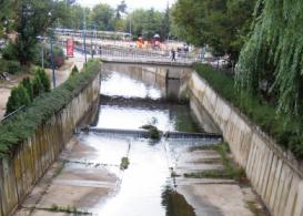 Río Guadarrama a su paso por Collado Villalba.