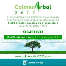 Cartel del proyecto puesto en marcha en Colmenar Viejo.