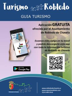 Cartel anunciador de la nueva app turística de Robledo de Chavela.