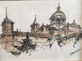 Una de las obras que compone la muestra. Foto: Ayto. San Lorenzo de El Escorial.
