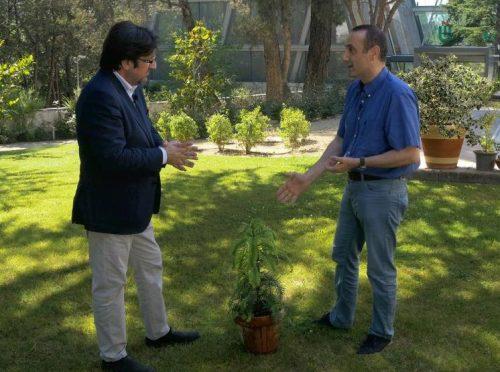 'El Rincón de la Ciencia', con Juan José Moreno, a la derecha de la imagen (Redacción: Luis Miguel Belda. Fotografía y contenidos audiovisuales: Ana Rodrigo).