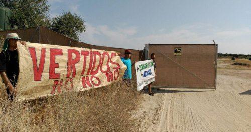 Momento de las protestas que originaron la sanción. Foto: Ecologistas en Acción.