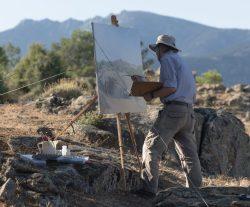 Alessandro Taiana, uno de los pintores participantes en la iniciativa. Foto: Andrea Taiana.