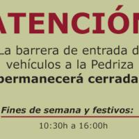 Entra en vigor el horario de invierno de acceso a La Pedriza