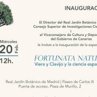 Presentación de la exposición 'Fortunata Natura. Viera y Clavijo y la ciencia española'