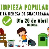 Limpieza popular de la Dehesa de Guadarrama