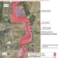Miles de personas y cientos de construcciones en riesgo por inundación