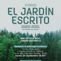 Emily Dickinson y su 'Herbario' inauguran la V edición de 'El jardín escrito' del RJB-CSIC