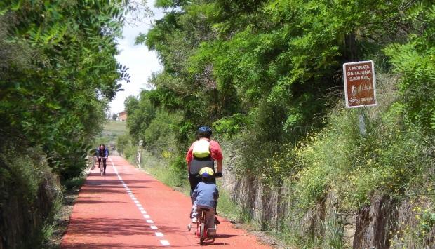 Vía Verde del Tajuña cerca de Morata de Tajuña.