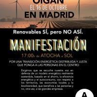 ALIENTE convoca una manifestación bajo el lema 'Renovables SÍ, pero no ASí'